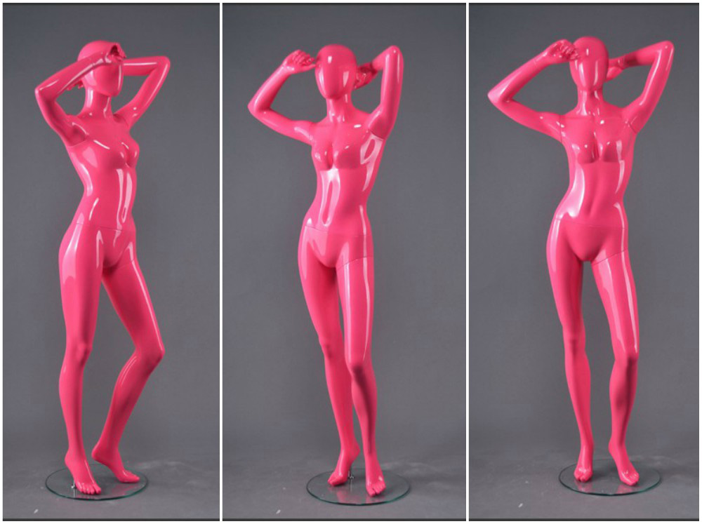 ZM-1208 - Leia - Intense Pink Abstract Posing Female Mannequin