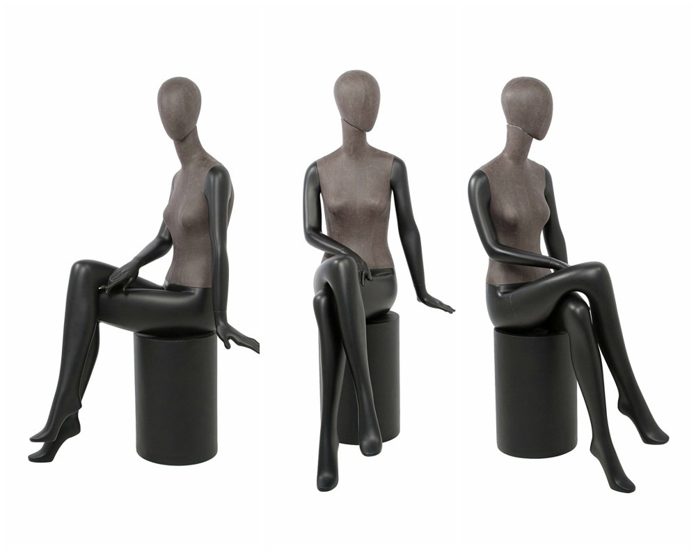 ZM-1603 - Taylor - Beautiful Black & Brown Fabric Mannequins