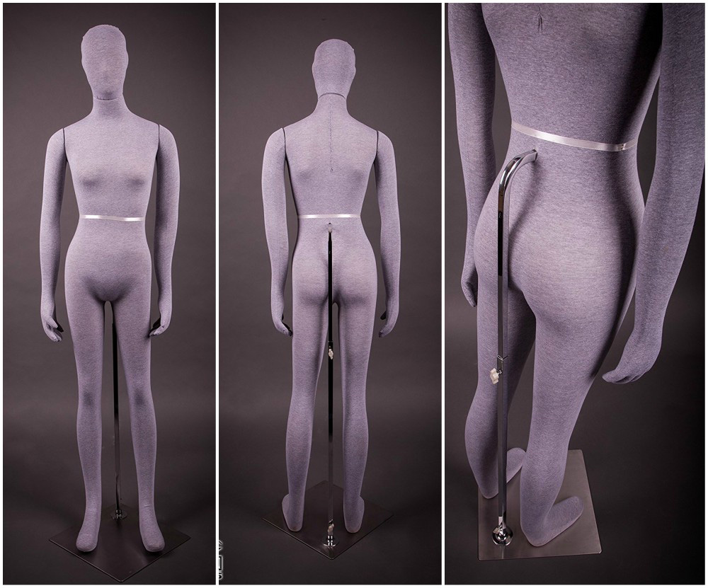 ZM-1608 - Cora - Abstract Fabric Covered Mannequin
