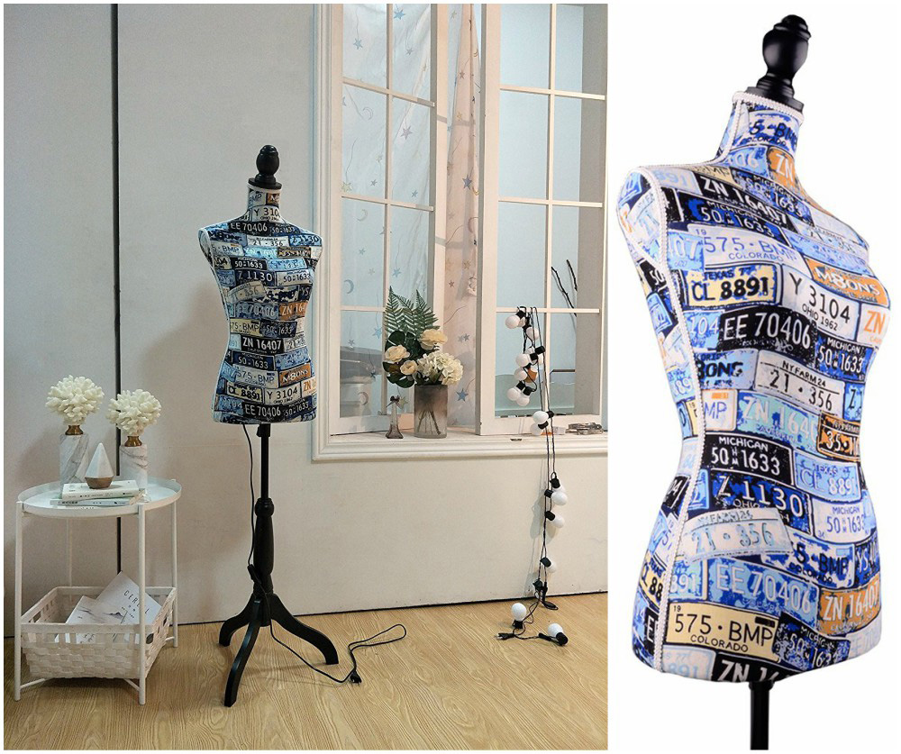 ZM-1609 - Aurora - Colorful Fabric Dress Form Mannequin