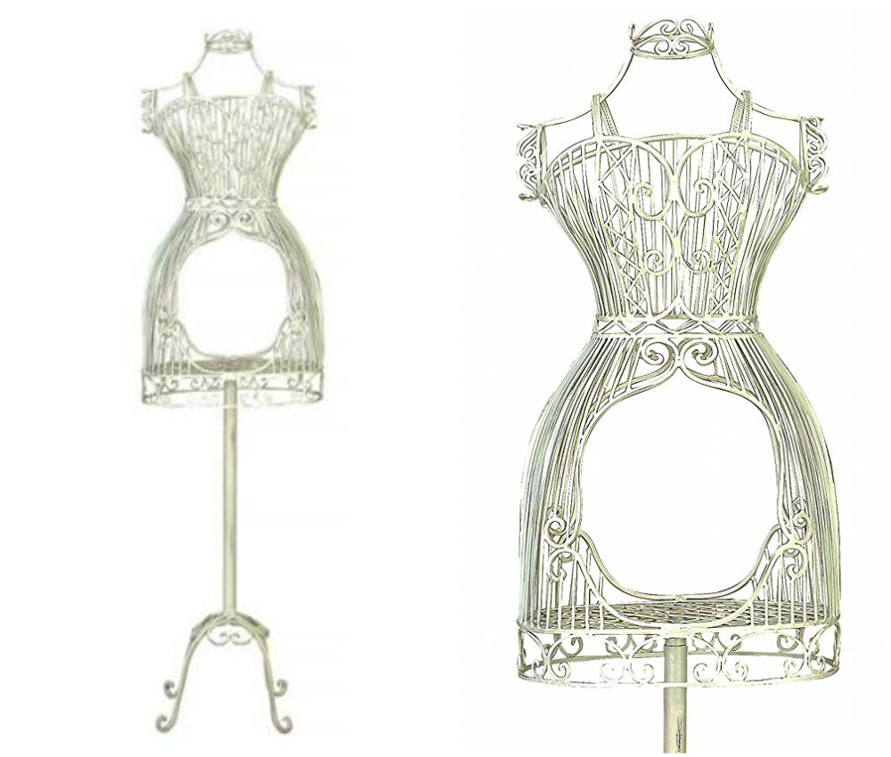 ZM-1802 - Daisy - Creative White Metal Wire Dress Form Mannequin