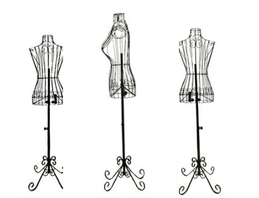 ZM-1808 - Angelina - Simple Black Metal Wire Mannequin Stand