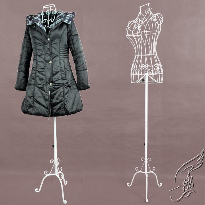 ZM-1809 - Laila - White Metal Wire Mannequin Stand