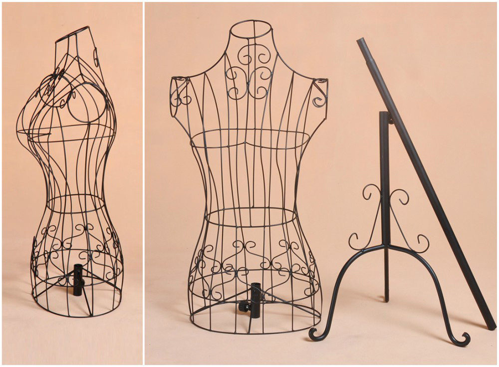 ZM-1813 - Paige - Iron Metal Wire Simple Dress Form Mannequin