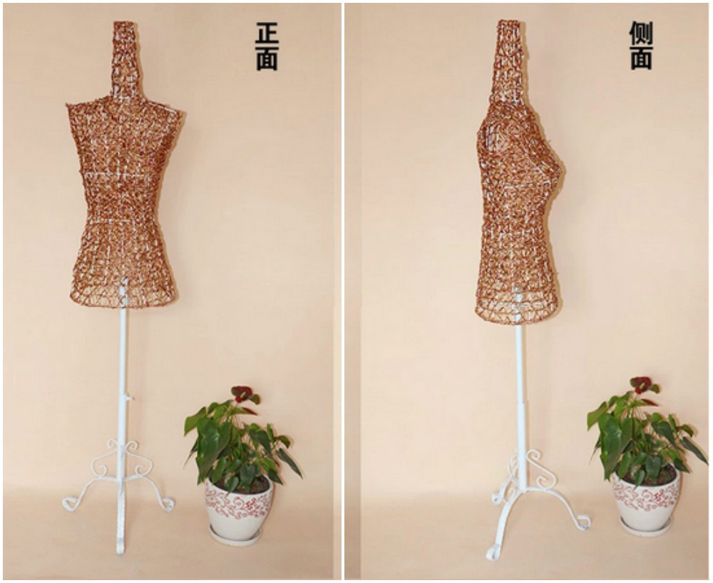 ZM-1814 - Molly - Copper Metal Wire Dress Form Mannequin