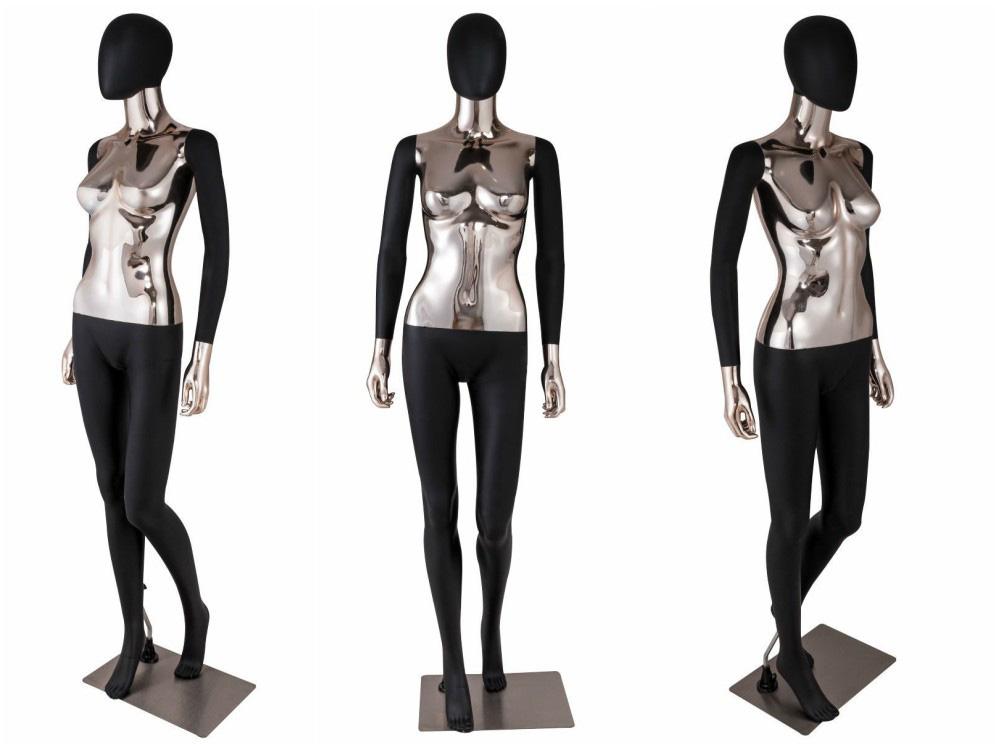 ZM-1901 - Alyssa - Black Silver Premium Plastic Mannequin