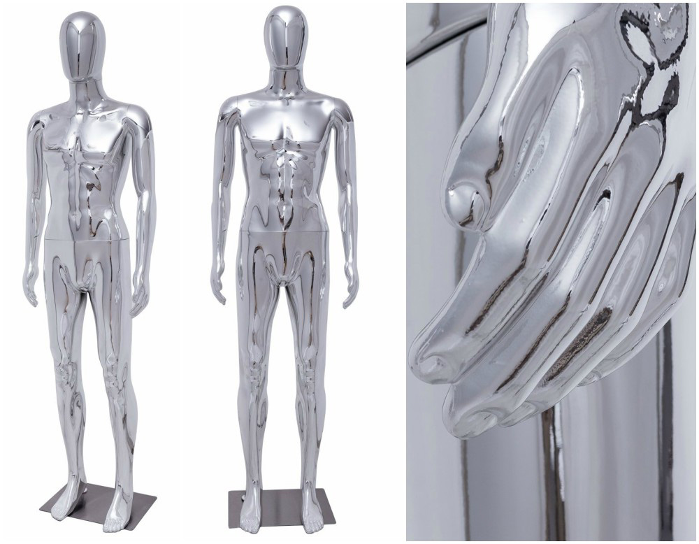 ZM-1905 - Jade - Chrome Finish Abstract Plastic Mannequin