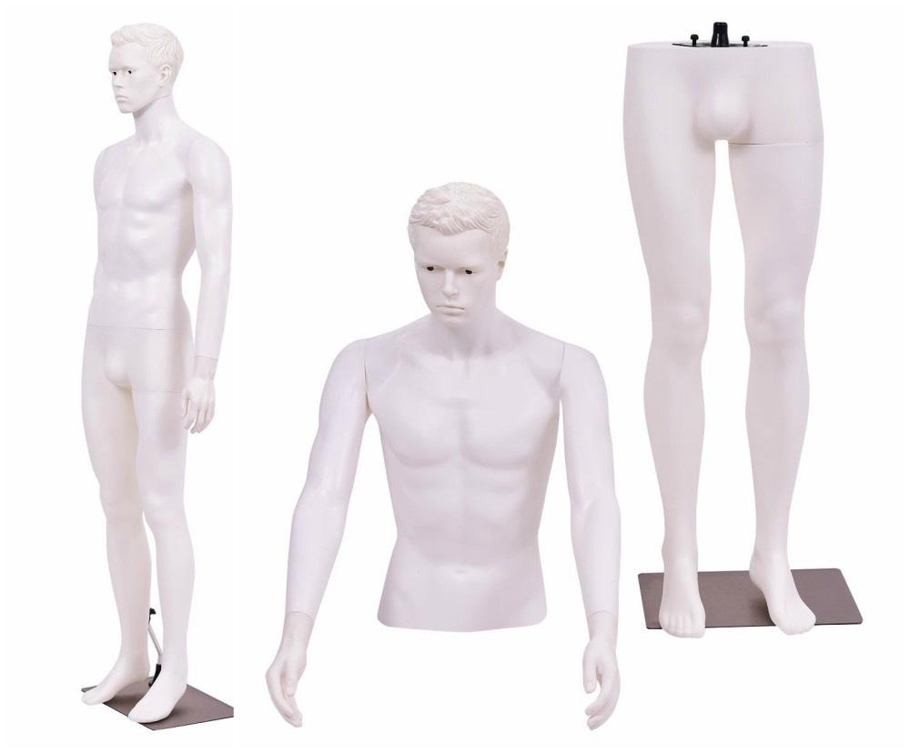 ZM-1908 - Levi - White Plastic Realistic Male Mannequin