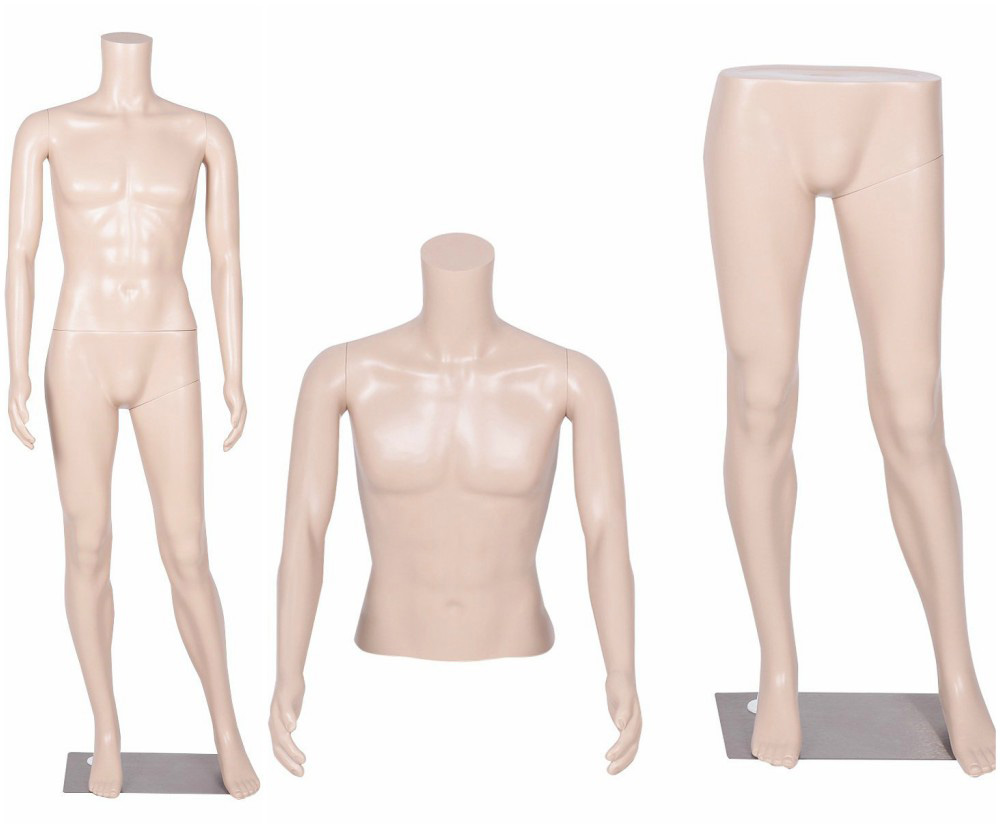 ZM-1909 - Lauren - Simple Plastic Male Headless Mannequin
