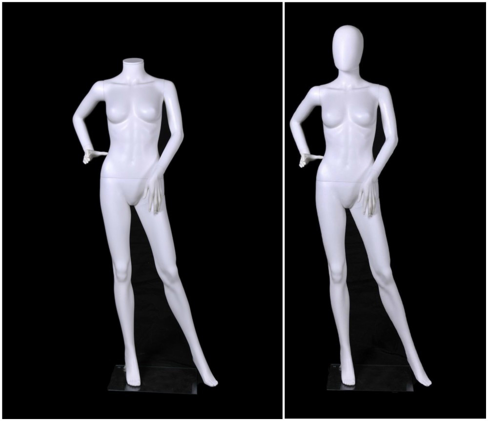 ZM-1914 - Hope - White Abstract Female Plastic Mannequin