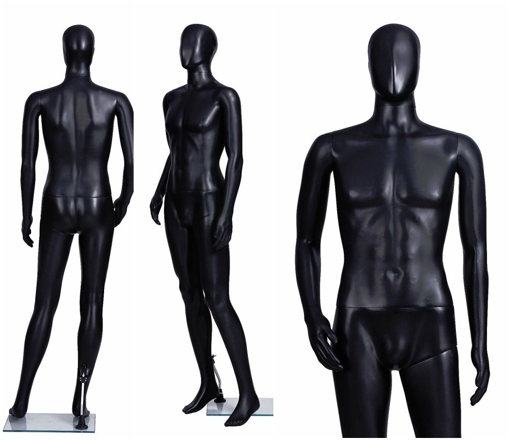 ZM-1915 - Oliver - Black Abstract Plastic Mannequin