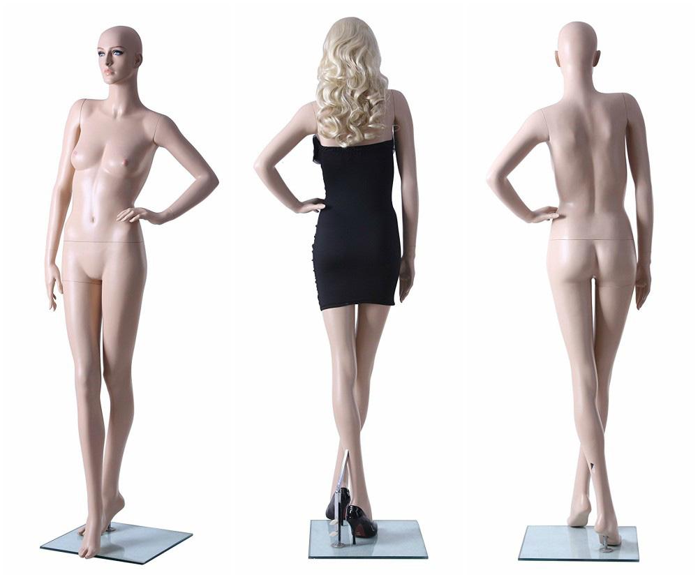 ZM-2002 - Reese - Elegant White Fiberglass Female Mannequin