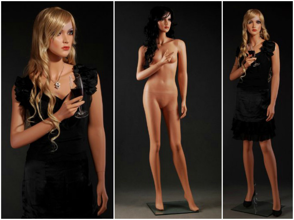 ZM-2008 - Ruby - Attractive Realistic Female Fiberglass Mannequin