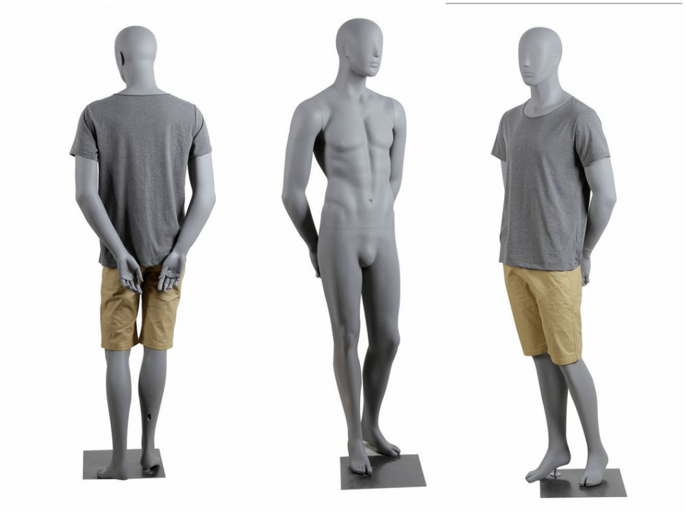 ZM-2012 - Camden - Abstract Gray Male Fiberglass Mannequin