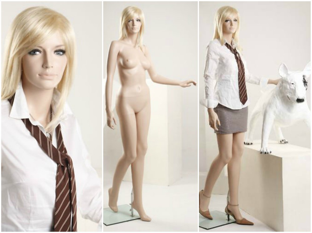 ZM-2014 - Clara - Beautiful Realistic Fiberglass Female Mannequin