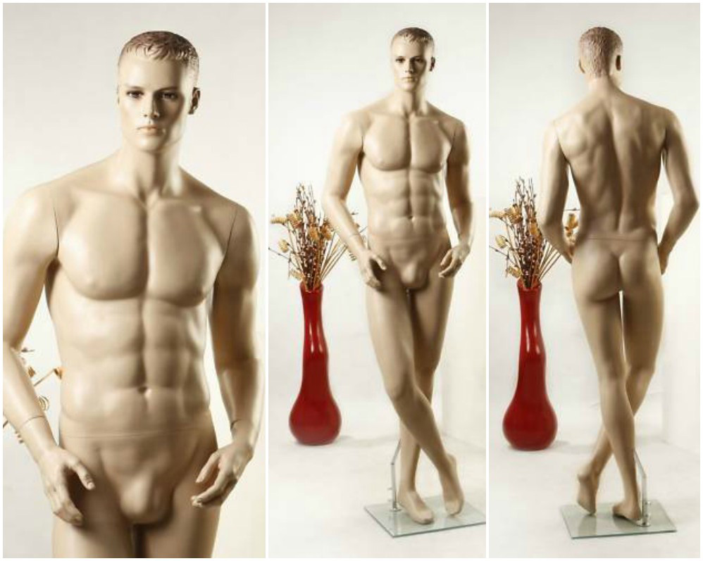 ZM-203 - Aiden - Attractive Muscular Tan Realistic Male Mannequin