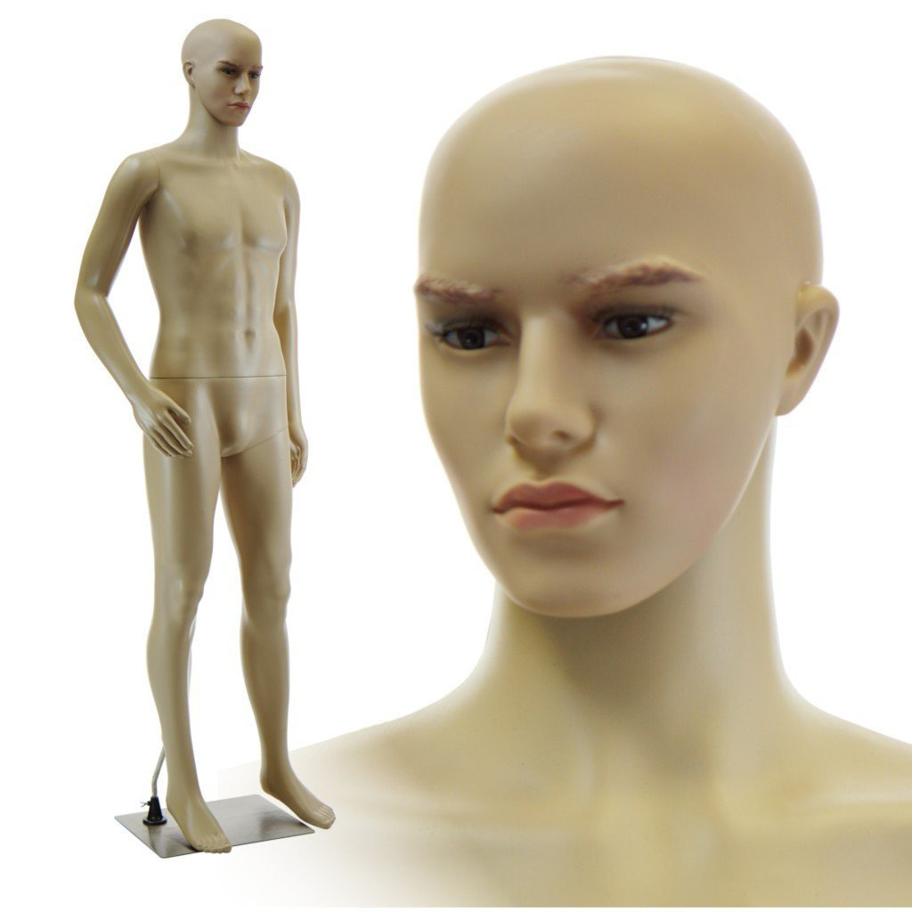 ZM-206 - Benjamin - Simple Realistic Tan Male Mannequin