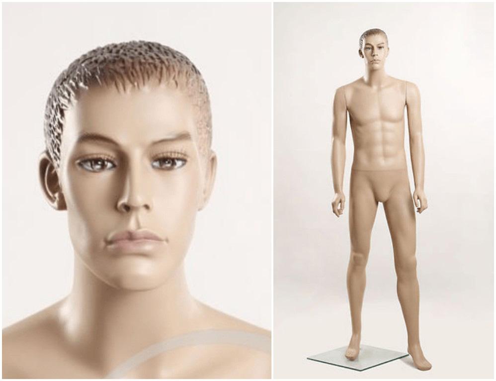 ZM-207 - Michael - Tan Realistic Male Mannequin