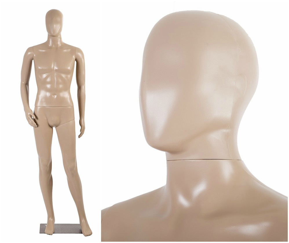 ZM-208 - John - Abstract Tan Male Mannequin