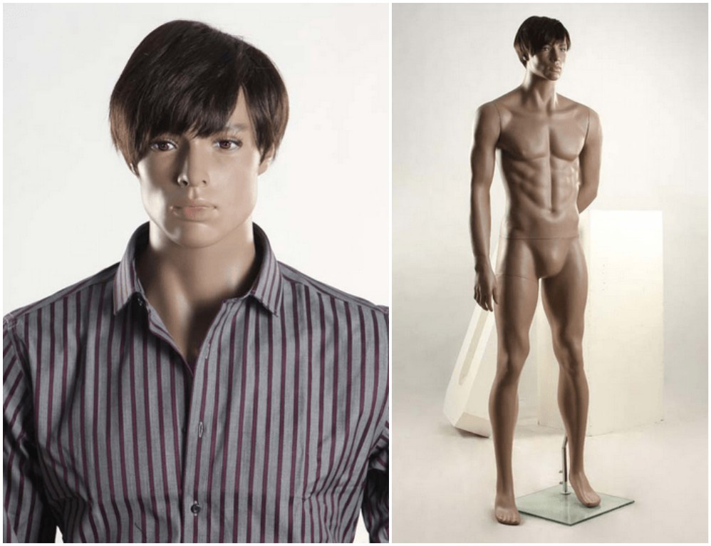 ZM-211 - Ethan - Realistic Tan Muscular Male Mannequin