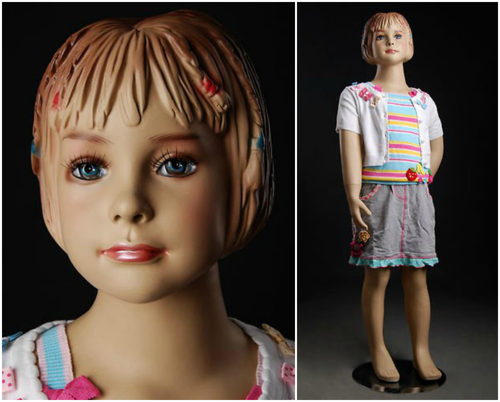 ZM-2303 - Brooks - Small Child Girl Realistic Mannequin