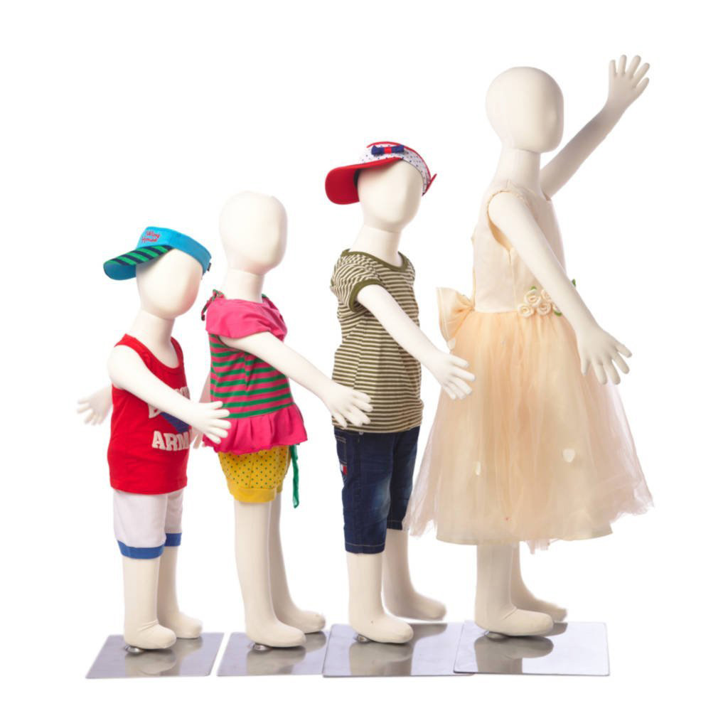 ZM-2304 - Holland - Small Abstract White Child Mannequin