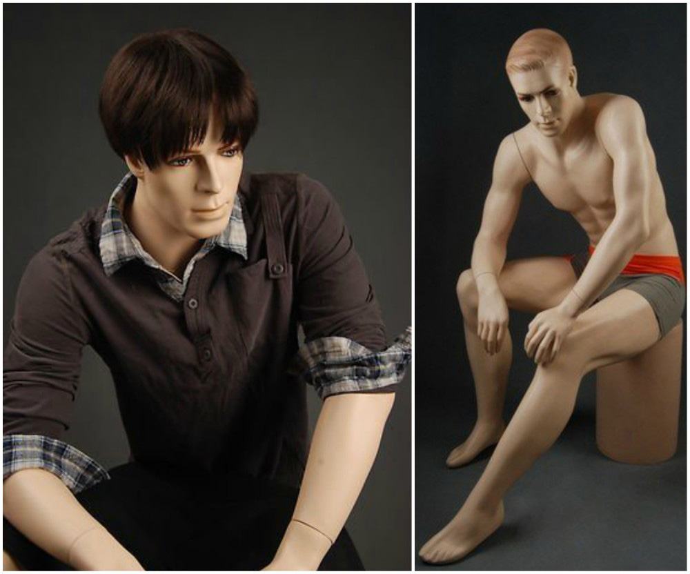 ZM-2401 - Daniel - Sitting Posing Realistic Male Display Mannequin