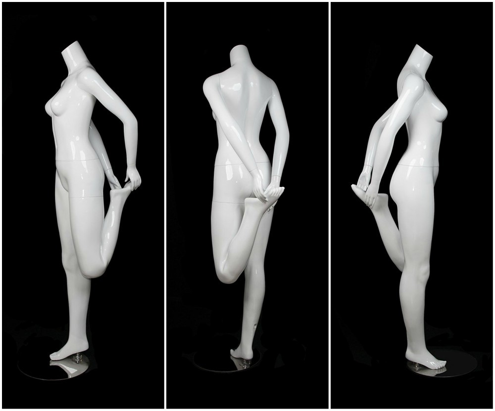 ZM-2410 - Emily - Abstract White Headless Display Mannequin