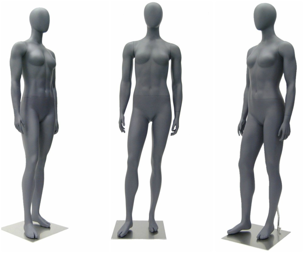 ZM-2413 - Ava - Abstract Gray Female Display Mannequin