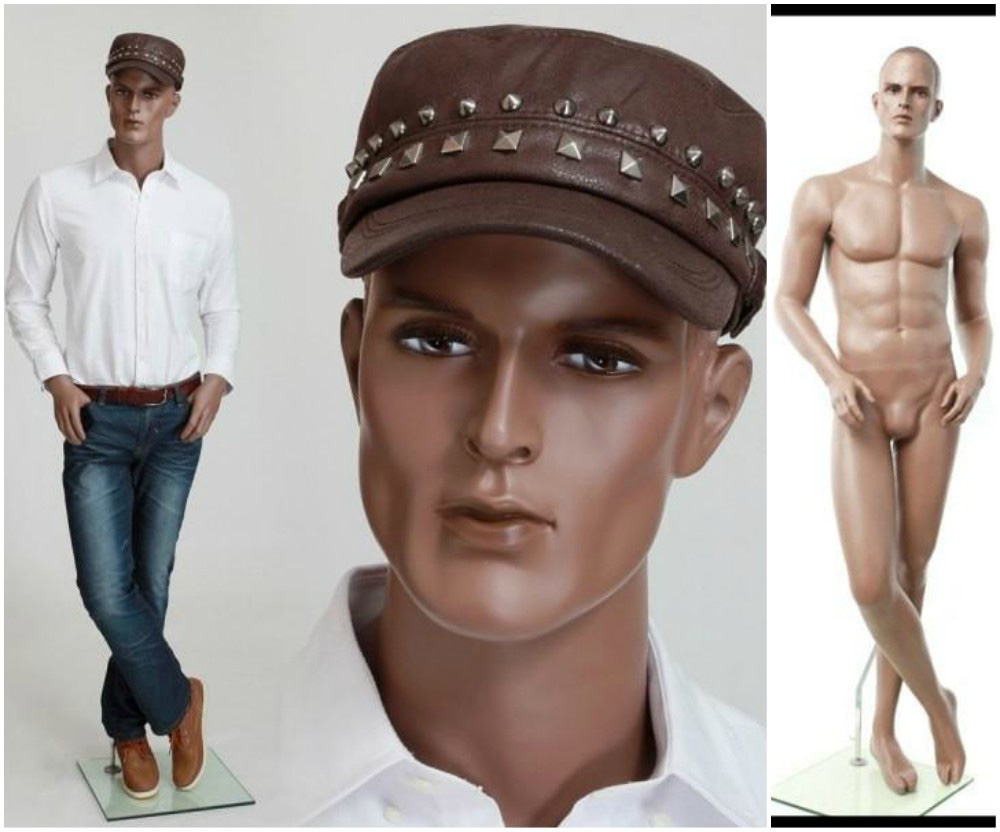 ZM-2609 - Ryan - Realistic African-American Male Shop Mannequin