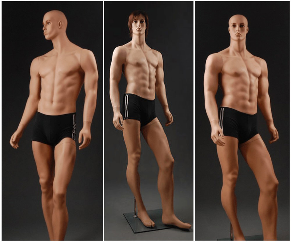 ZM-2613 - Andrew - Realistic Muscular Tall Male Shop Mannequin