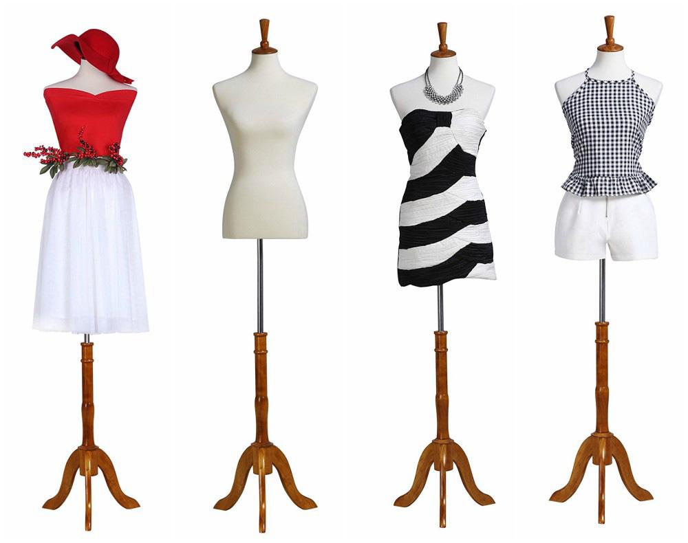 Zm 2703 Alyssa Wooden Stand Bedroom Mannequin Dress Form