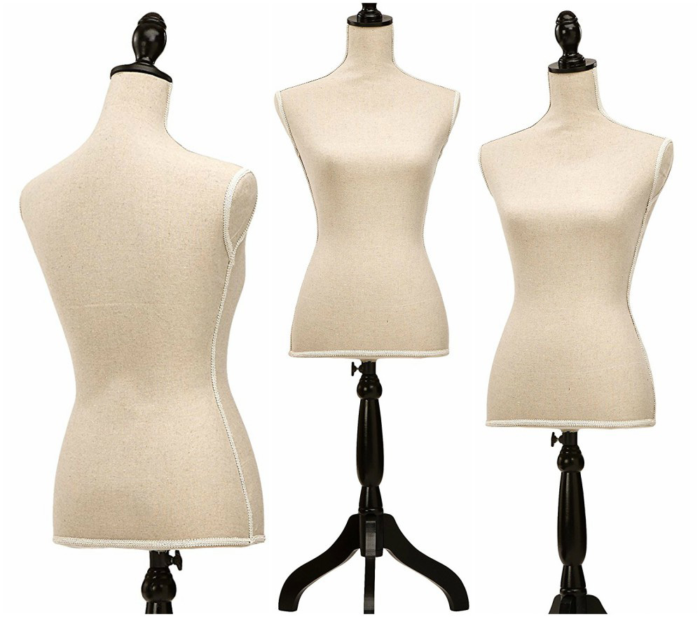 ZM-2705 - Reagan - Minimalist Beige Adjustable Bedroom Mannequin Stand