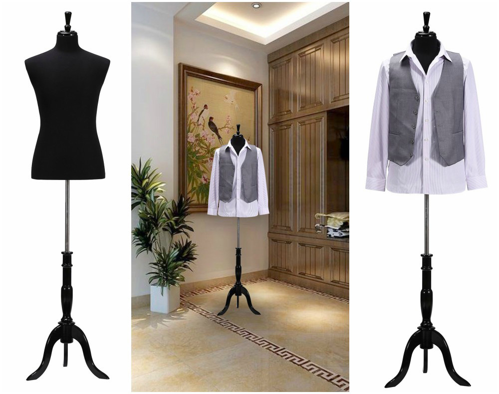 ZM-2706 - Quinn - Minimalist Black Bedroom Mannequin Dress Form Stand