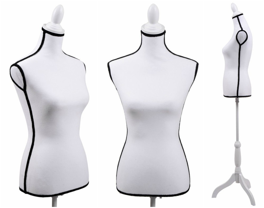 ZM-2709 - London - Black & White Minimalist Bedroom Dress Form Mannequin