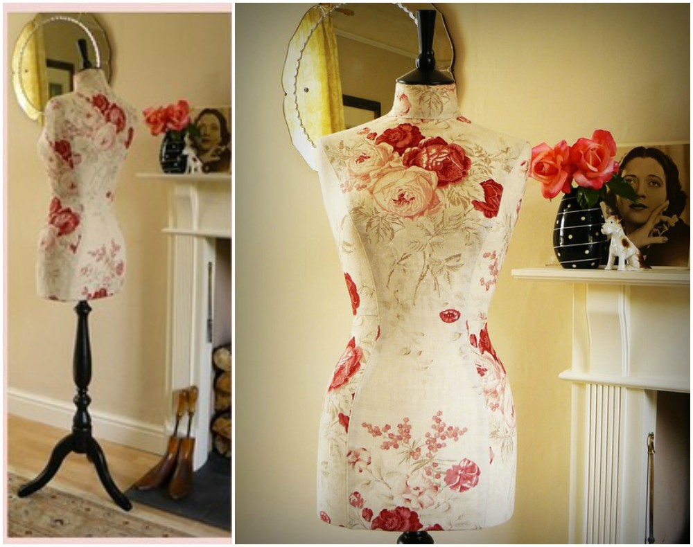 ZM-2713 - Alexis - Beautiful Floral Pattern Bedroom Dress Form Mannequin