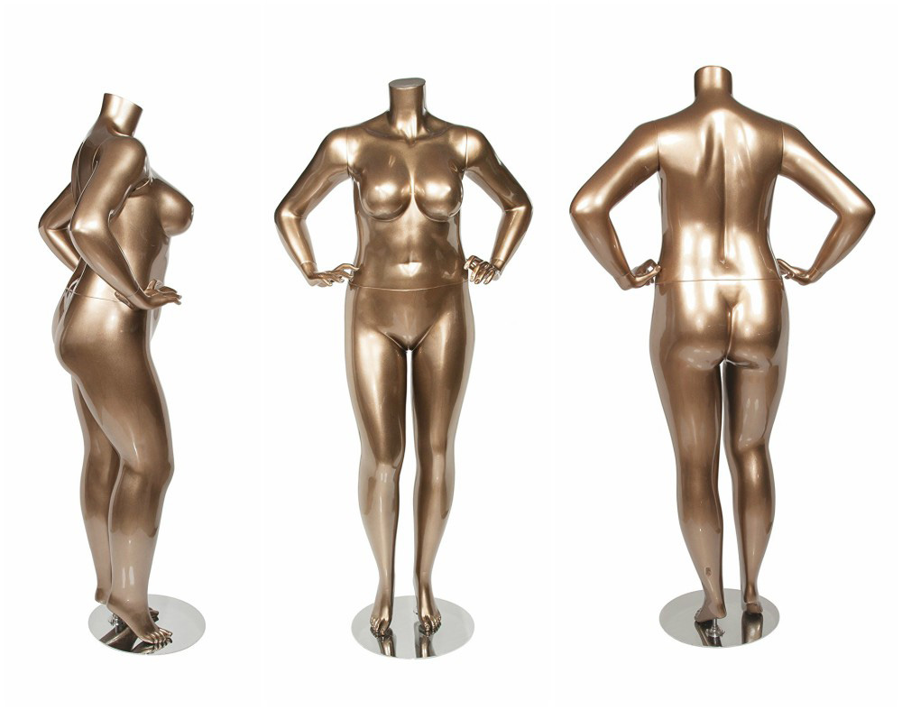 ZM-2801 - Gracie - Big Female Golden Headless Mannequin