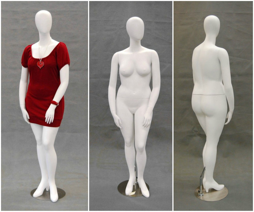 ZM-2803 - Nicole - Abstract White Big Female Mannequin