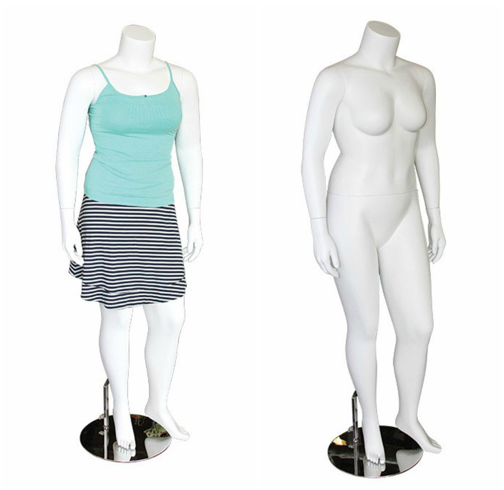 ZM-2805 - Kendall - White Headless Female Mannequin