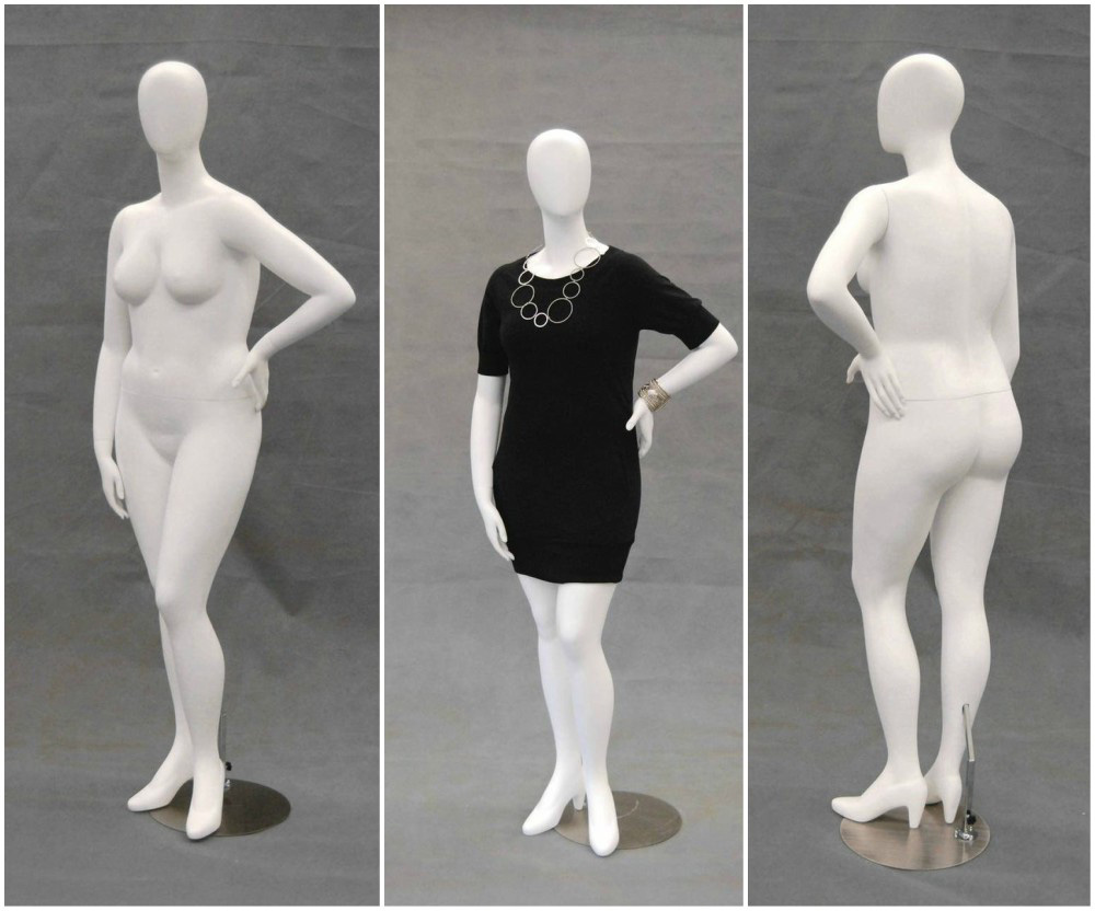 ZM-2807 - Lilly - Big Plus Size White Female Abstract Mannequin