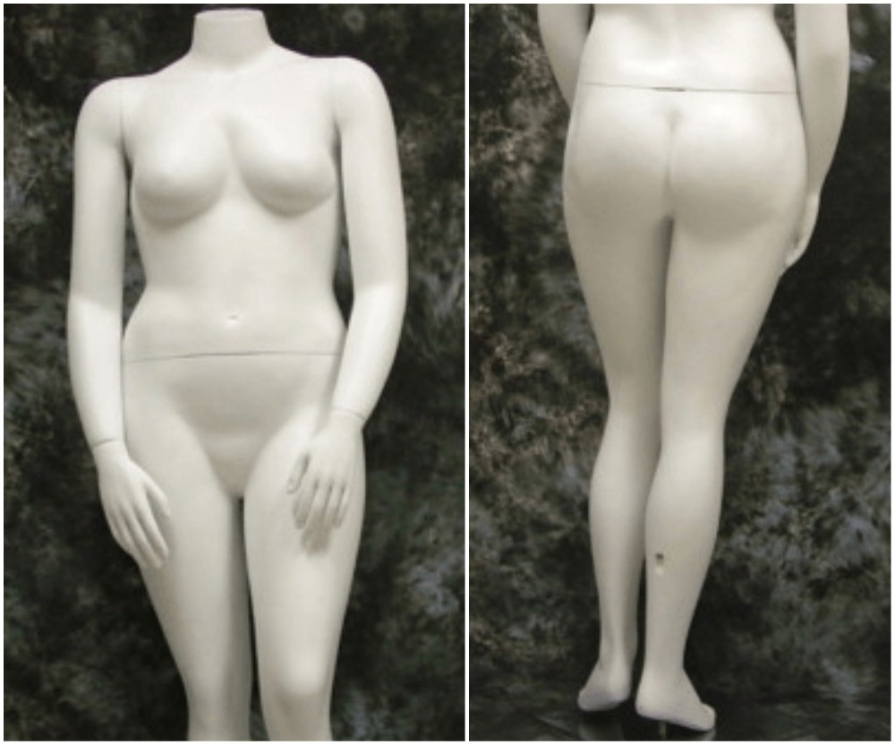 ZM-2808 - Melody - Big Curvy Female Headless White Mannequin