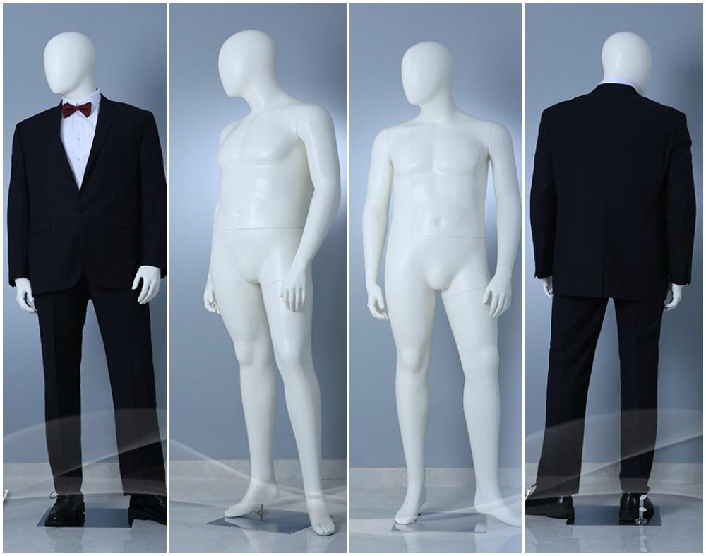 ZM-2810 - Sebastian - Elegant White Large Plus Size Male Mannequin
