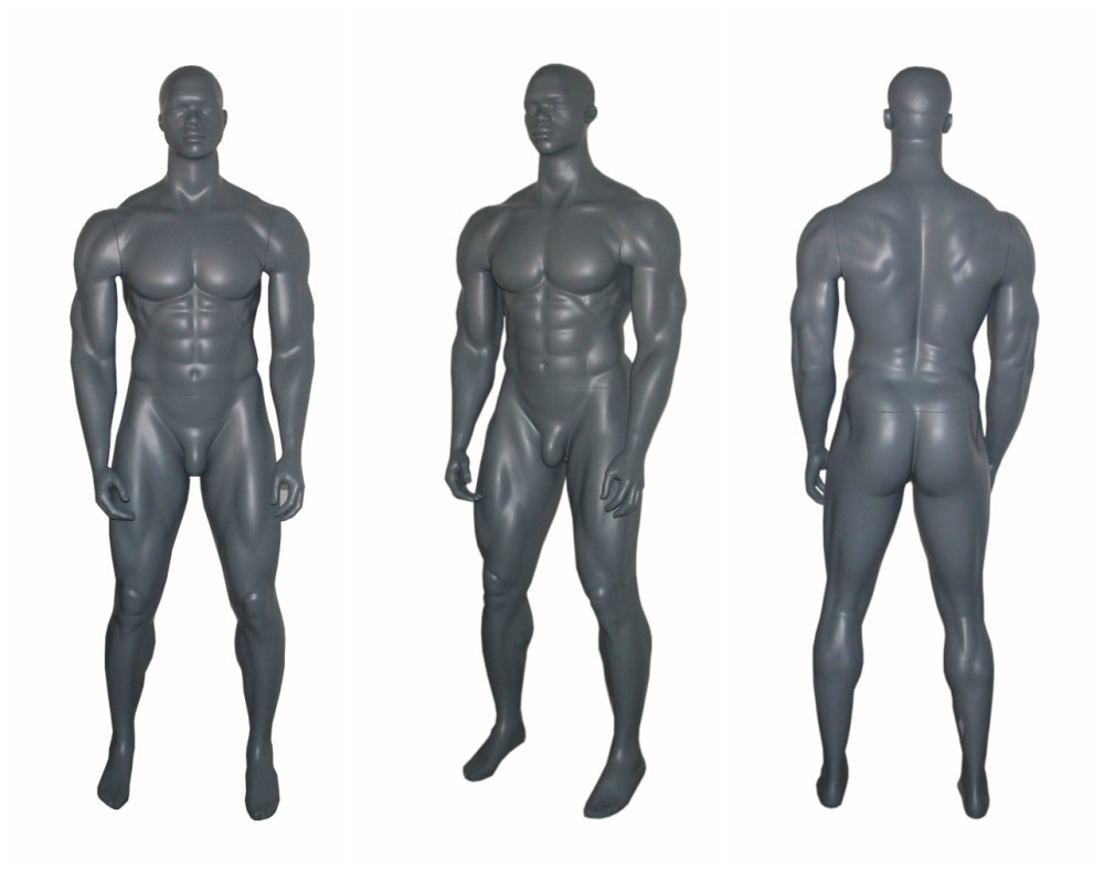 ZM-2811 - Wyatt - Large Gray Muscular Male Mannequin