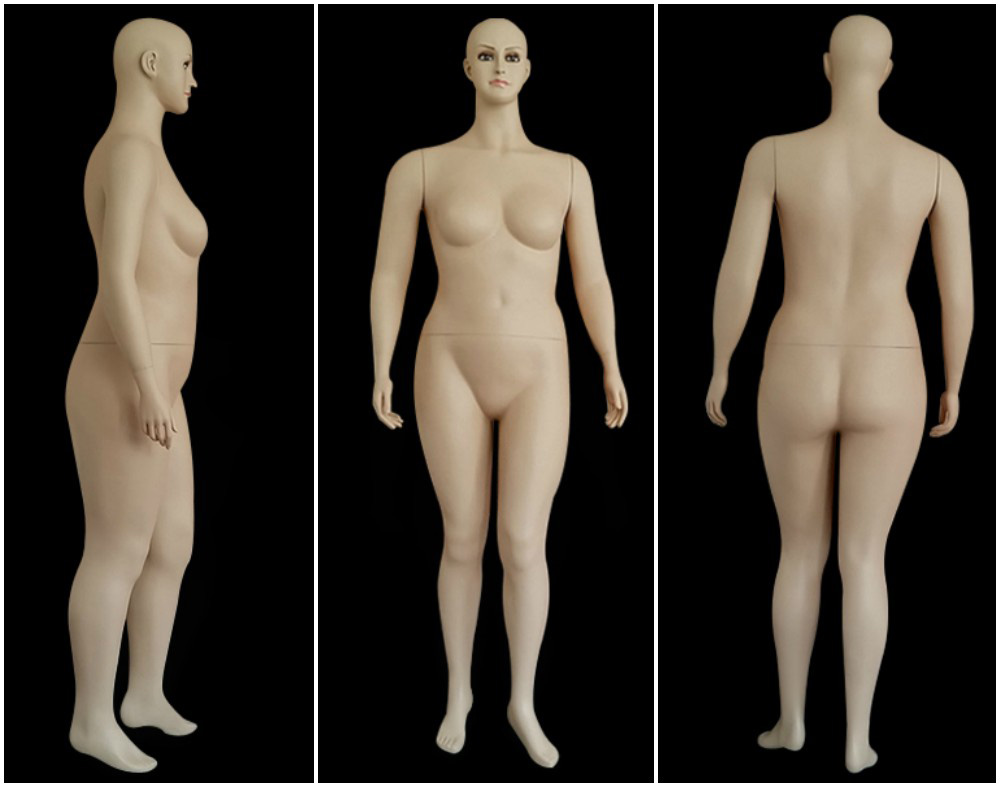 ZM-2813 - Valentina - Realistic White Plus Size Big Female Mannequin