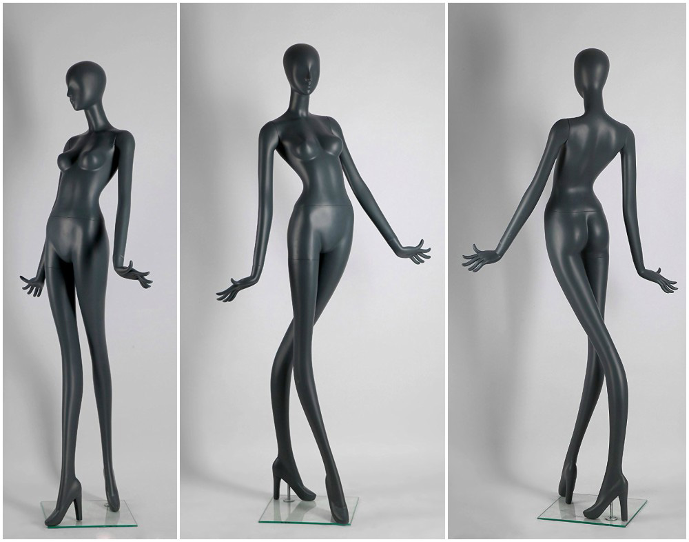 ZM-401 - Vivian - Abstract Gray Supple Female Mannequin