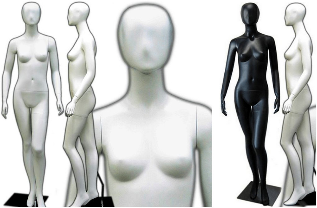 ZM-404 - Naomi - Black & White Abstract Female Mannequin