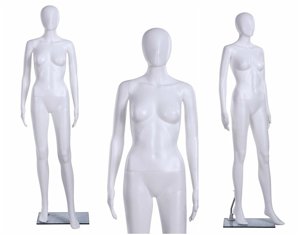 ZM-406 - Julia - Glossy White Abstract Mannequin