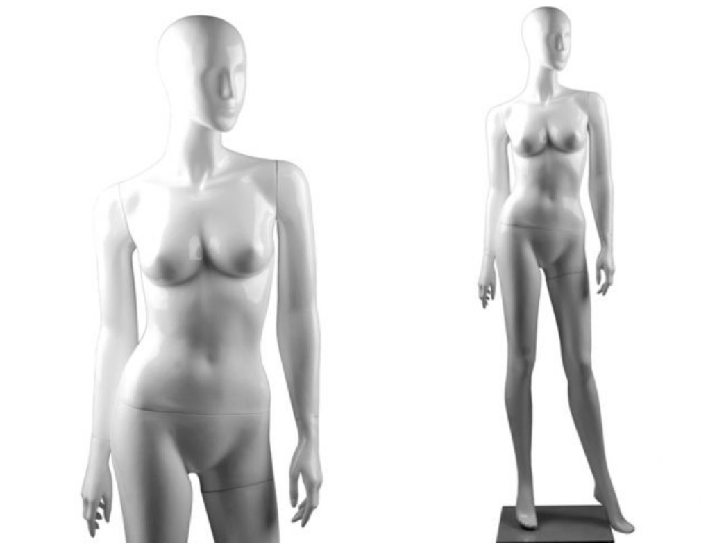 ZM-407 - Clara - Simple White Abstract Female Mannequin