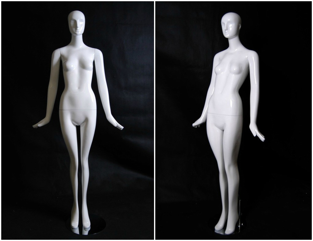 ZM-410 - Addison - Cute White Glossy Abstract Mannequin