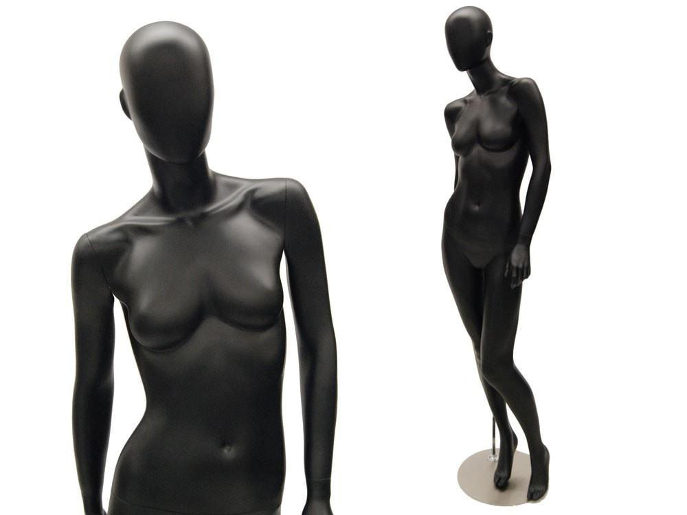 ZM-413 - Skylar - Black Glossy Abstract Female Mannequin
